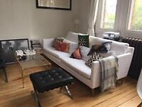 Scandinavian minimalist white sofa - Bliss Set 2