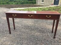 Dark Chestnut console Table