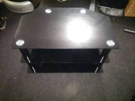 Corner TV unit black