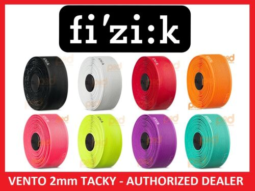 Fizik Vento Superlight Microtex Tacky 2mm Handle Bar Tape Black White Red Yellow