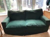 Two three seater sofas free