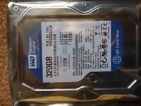 Western Digital 320GB PATA Hard Drive 8MB cache.Unused and in sealed original package.