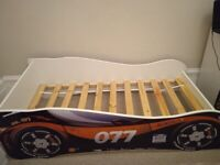 Kids wooden car bed