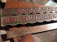 Ornamental pieces of genuine Indonesian teak wood.