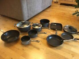 John Lewis hard anodised saucepans