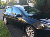 Immaculate and economical. 55mpg and £30 tax. Black 5 door 2012 VW Golf 2.0TDI BM Match
