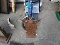 KNIGHT COMPANION SET 2 FT TALL CAST IRION FIRESIDE KNIGHT IN YEOVIL