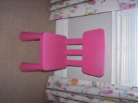 Ikea childs pink chair