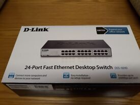 D-Link DES 1024D Switch - 24 ports - unmanaged (new, never used, still in box)