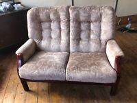 Two sit sofa with matching armchair