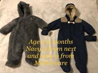 Baby snowsuits age 3-6 months