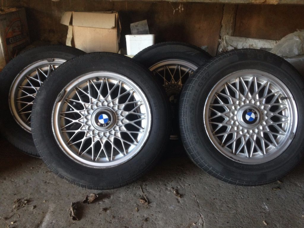 Bmw E30 Bbs Rz Alloys Wheels 4 Stud 15 Inch In