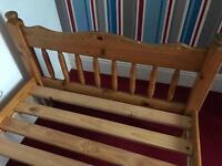 Single Bed Wooden Frame
