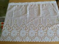 Small white net curtain 140cm x 53cm