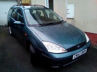 SOLD SOLD SOLD FORD FOCUS ESTATE CAR 1.6 LX 2002 PETROL FOR SALE SPARES OR REPAIR OR DRIVE AWAY NOW