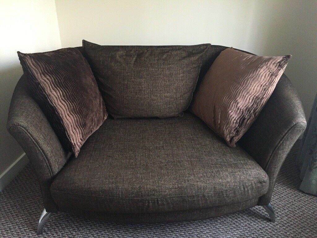Two Seater Sofa Cuddle Chair And Footstool