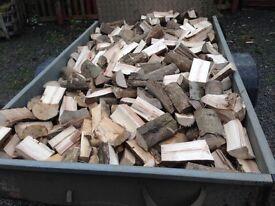 Seasoned hardwood logs for sale (ready to burn)