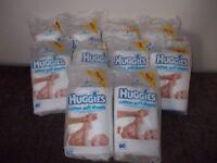 Ten New packs of Huggies cotton wool sheets