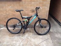 Mens SILVER FOX RACING Dual Suspension Mountain Bike in Good Condition