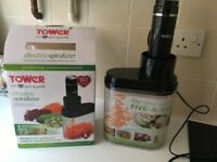 Boxed Electric Tower Kitchen Spiraliser - used once - ideal for healthy eating