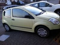 CITROEN C2.1.4 .DIESEL.2005..£20/YEAR ROAD TAX..BRILL RUNNER..OUTSIDE MINT AS NEW...