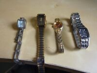 Watch collection of 4 see photo (old vintage collectible useable spares repairs)