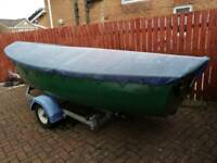 17 ft fiberglass boat with evinrude 5 hp engine