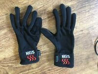 Keis Small Heated Inner Gloves Good Condition Motorcycle Battery connection