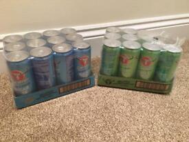 21 cans of Carabao energy drink