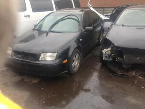 Parting out a 2001 Vw jetta Tdi 1.9 black 5 speed