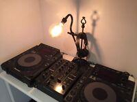 2 x Pioneer CDJ 900 CD Decks & DJM 350 Mixer