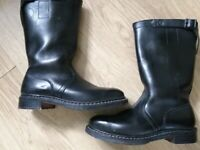 German army motorcycle boots. Size 8