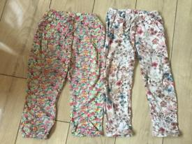 Girls next trousers age 3-4 £5 for both pairs