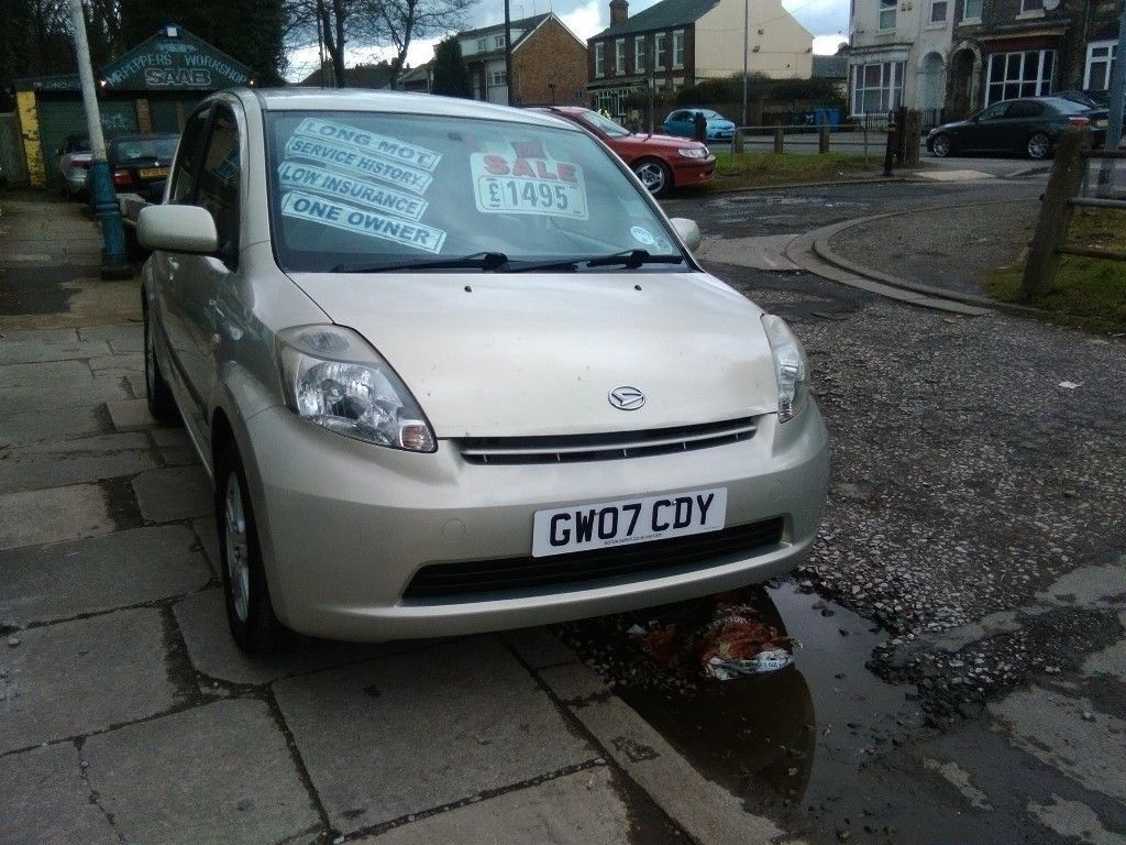 2007 daihatsu sirion 1.3 petrol 5 DOOR HATCHBACK FULL SERVICE HISTORY FULL  MOT VERY TIDY CAR