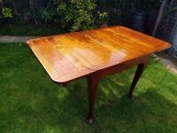 Retro Extending Dining Table Vintage Furniture Full Wood