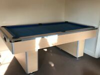 Full size pool table and accessories