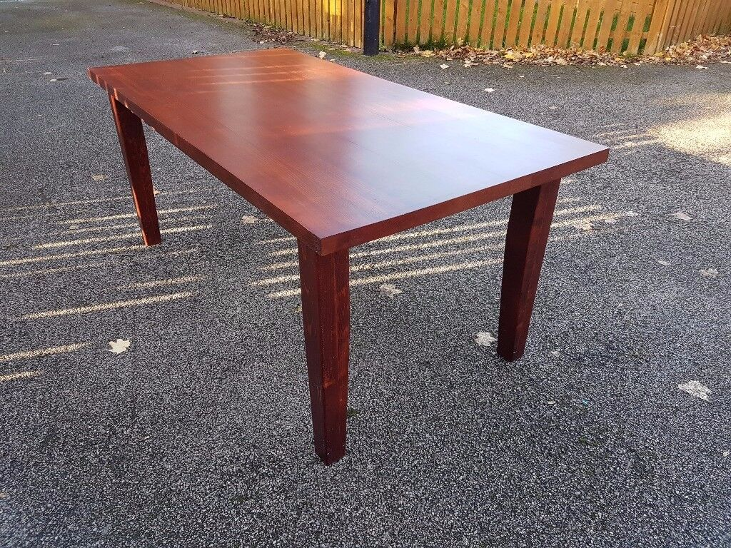 Solid Mahogany Wood Dining Table 180cm FREE DELIVERY 064