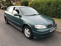 Vauxhall Astra Club 16V 1598cc Petrol 5 speed manual 5 door hatchback 52 plate 31/12/2002 Green