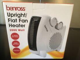 Upright/flat fan heater.