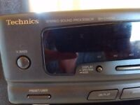 Pair of Technics 3-way speakers 100w,stereo sound processor,tuner Amplifier & CD player with leads