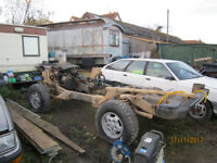 land rover disco rolling chassis & log book