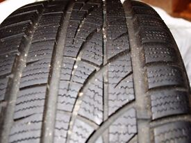 Hankook Winter I * Cept Tyres 4 x 235 45 17 ex condition used 3 months only VW Audi Skoda Vauxhall