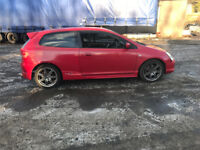 honda civic ep3 type r pre facelift red spares repair project modified