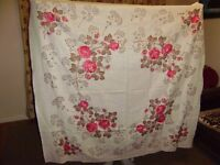 2 Linen tablecloth, as new