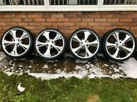 "Vauxhall, Volkswagen, Toyota, Renault 18"" Alloy Wheels, Chrome Alloys"
