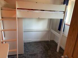 Stompa single high top bed and wardrobe