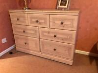 Chest of Drawer with 2x Matching Bedside Tables