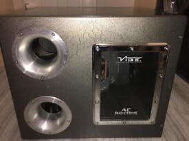 "12"" vibe subwoofer and amplifier"