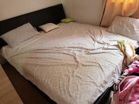 Super kingsize bedframe and mattress