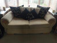 2 x Sofa and footstool